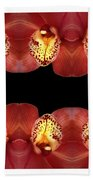 Nature In Abstract Orchid Square Beach Towel