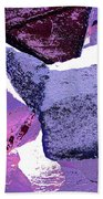 Abstract In Purple Beach Towel