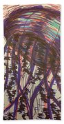 Abstract Jellyfish In Ink Beach Towel