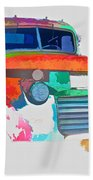 Abstract Jimmy Beach Towel