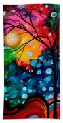 Abstract Landscape Colorful Contemporary Painting By Megan Duncanson Brilliance In The Sky Beach Towel by Megan Duncanson