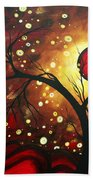 Abstract Landscape Glowing Orb By Madart Beach Towel