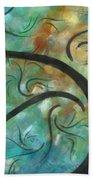Abstract Landscape Painting Digital Texture Art By Megan Duncanson Beach Towel