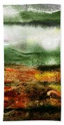 Abstract Landscape Sunrise Sunset Beach Towel