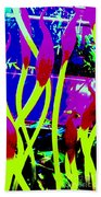 Abstract Lavender  Beach Towel