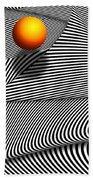 Abstract - Lines - That's A Moire Beach Towel