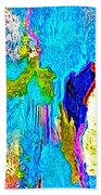 Abstract Melting Planet Beach Towel