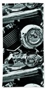 Abstract Motor Bike - Doc Braham - All Rights Reserved Beach Towel