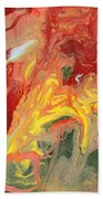 Abstract - Nail Polish - In A State Of Flux Beach Towel by Mike Savad