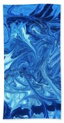 Abstract - Nail Polish - Ocean Deep Beach Towel by Mike Savad