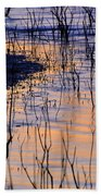 Abstract Nature At Sunset Beach Towel