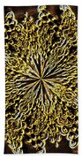 Abstract Neon Gold Beach Towel