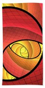 Abstract Network Beach Towel