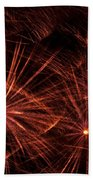 Abstract Of Fireworks On Black Beach Sheet