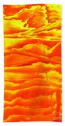 Abstract Orange Beach Towel