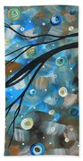 Abstract Original Landscape Art In A Trance Art By Madart Beach Towel