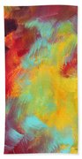 Abstract Original Painting Colorful Vivid Art Colors Of Glory I By Megan Duncanson Beach Towel