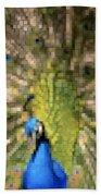 Abstract Peacock Digital Artwork Beach Towel