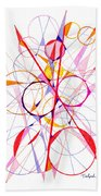 Abstract Pen Drawing Fifty-one Beach Towel