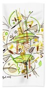 Abstract Pen Drawing Fifty-seven Beach Towel