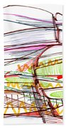 Abstract Pen Drawing Forty-five Beach Towel