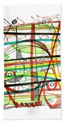Abstract Pen Drawing Forty-seven Beach Towel