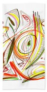 Abstract Pen Drawing Forty-six Beach Towel