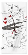 Abstract Pen Drawing Seventy-eight Beach Towel