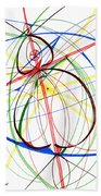 Abstract Pen Drawing Seventy-four Beach Towel