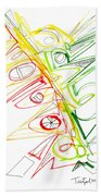 Abstract Pen Drawing Seventy-one Beach Towel