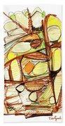 Abstract Pen Drawing Sixty-three Beach Towel
