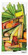 Abstract Pen Drawing Sixty-two Beach Towel