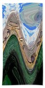 Abstract - Penguins On Ice Beach Towel