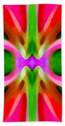 Abstract Pink Tree Symmetry Beach Towel