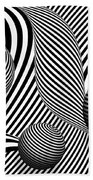 Abstract - Poke Out My Eyes Beach Towel by Mike Savad