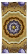 Abstract Pond In Gold Beach Towel