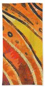Abstract Rainbow Tiger Stripes Beach Towel by Pixel Chimp