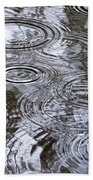 Abstract Raindrops Beach Towel by Christina Rollo