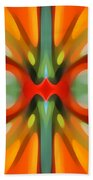 Abstract Red Tree Symmetry Beach Towel by Amy Vangsgard