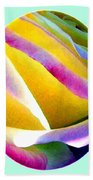 Abstract Rose Oval Beach Towel