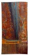 Abstract Rust Beach Towel