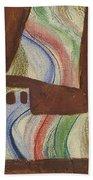 Abstract Sailboat Beach Towel