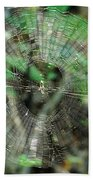 Abstract Spider Web Beach Towel
