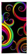 Abstract - Spirals - Inside A Clown Beach Towel by Mike Savad