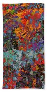 Abstract Spring Beach Towel