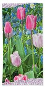 Abstract Spring Floral Fine Art Prints Beach Towel