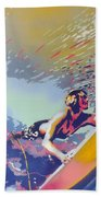 Abstract Surf Beach Towel