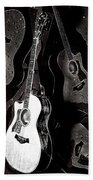 Abstract Taylor Guitars Beach Towel