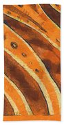 Abstract Tiger Stripes Beach Towel