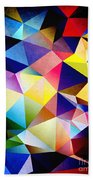 Abstract Triangles And Texture Beach Towel